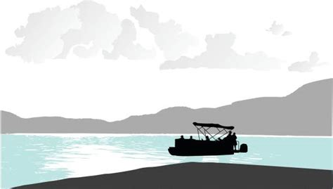boat on lake clipart royalty free pontoon boat clip art vector images