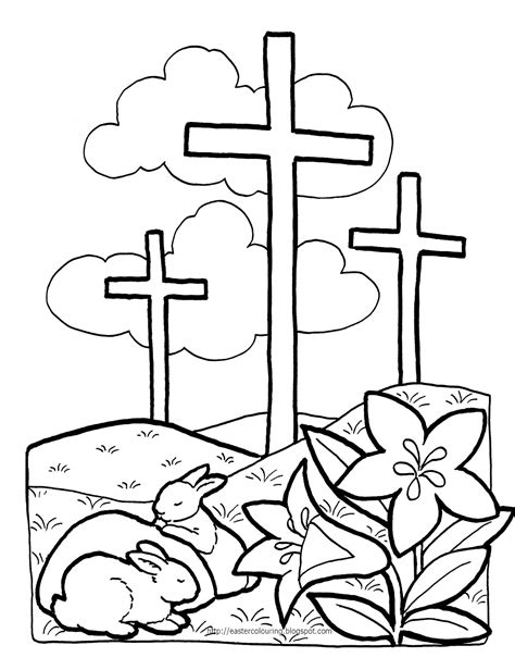 coloring page for resurrection easter coloring pages free large images