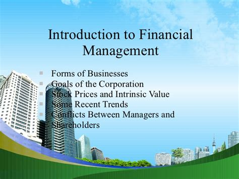 Capital Budgeting Ppt Mba Notes by Introduction To Financial Management Ppt Mba
