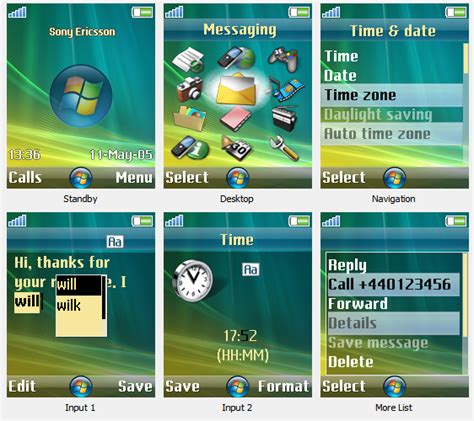 drawing themes for mobile phones windows vista theme for sony ericsson mobile phone by