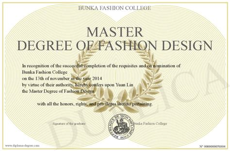 fashion design degree from home master degree of fashion design