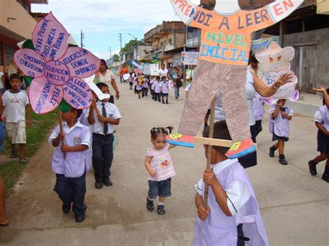paseo de pancartas por el aniversario de educacion inicial ni 241 os y ni 241 as del alto huallaga recordaron aniversario de