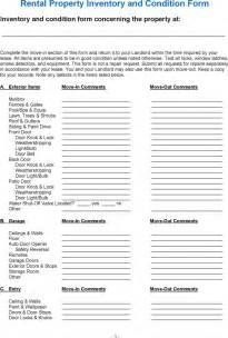 rental property condition report template rental property inventory and condition form for