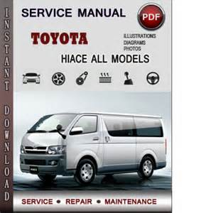 toyota hiace 1989 2004 service repair and workshop manual