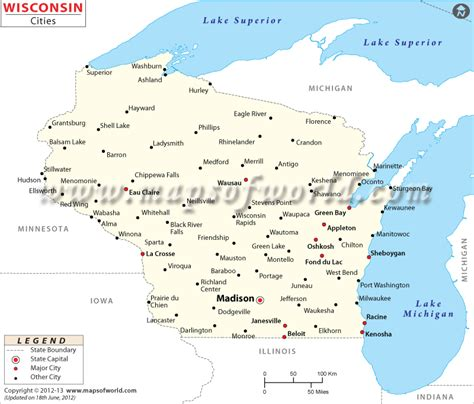 map of wisconsin cities cities in wisconsin wisconsin cities map