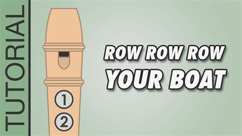 row row your boat on recorder how to play row row row your boat on the recorder easy