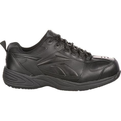 reebok slip resistant athletic work shoe w composite toe