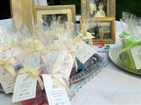 50th wedding anniversary favor bags and other ideas
