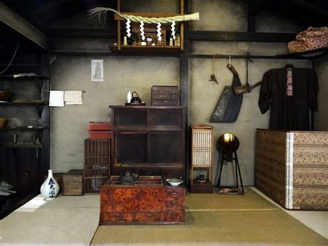 traditional japanese house interior quot inside an edo period sawyer s home taken at the fukagawa