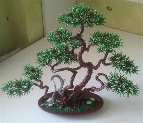 beaded bonsai tree pine bonsai biser info all about and beaded