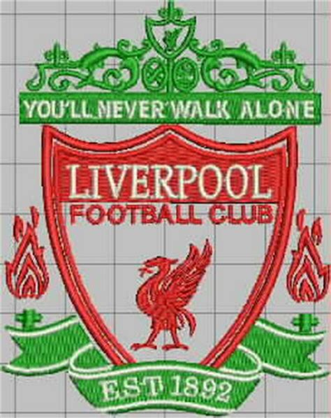 Design Custom Liverpool Fc 016 embroidery designs free embroidery design logos