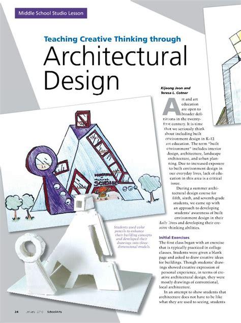 Pin By Schoolarts Magazine On Middle School Studio Lessons Teaching Architectural Design Studio