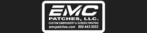 emc patches custom embroidered patches  professional embroidery  screen printing