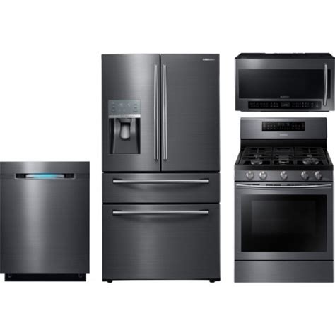 4 piece kitchen appliance packages samsung 4 piece kitchen package with nx58j7750sg gas range