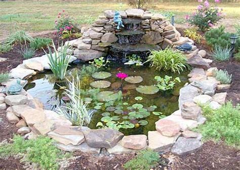 Small Garden Pond With Cascading Fountain Ponds Pond Ideas For Small Gardens