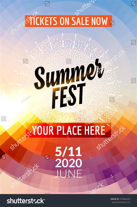summer festival flyer design template summer stock vector