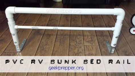 bed rail for bed pvc rv bunk bed rail prepper