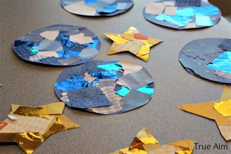 stars craft children creation story for day 4 the sun moon and true aim