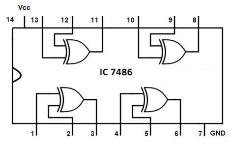 7486 ttl integrated circuit datasheet exclusive or gate xor gate