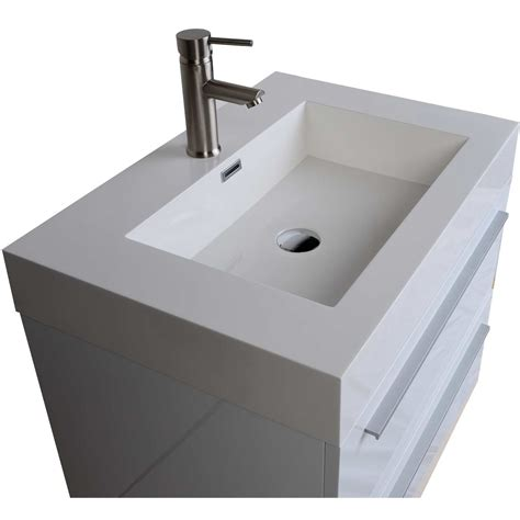 High Bathroom Vanities Buy 26 75 In Single Bathroom Vanity Set In High Gloss White Tn T690 Hgw On Conceptbaths
