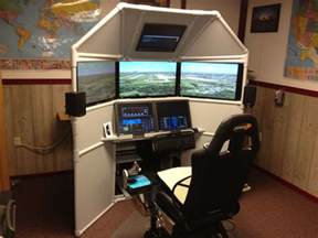 Desk Design Plans diy six screen home cockpit