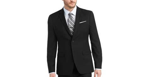 Mens Wear House by Egara Black Slim Fit Suit S Slim Fit