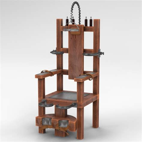 electric chair 3d model of electric chair