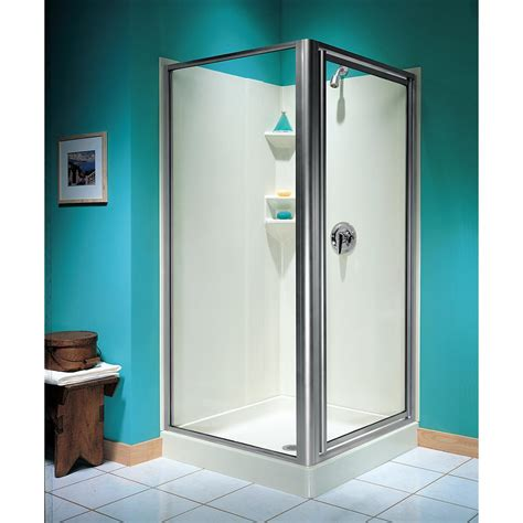 Framed Pivot Shower Door Swan 36 In X 70 In Threshold Framed Pivot Shower Door In Chrome Sd03636og 081 The