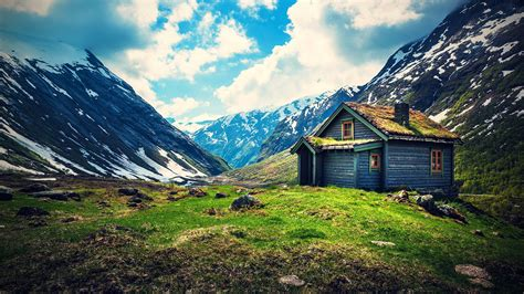 house in the mountains small wooden house on mountain wallpaper free wallpapers