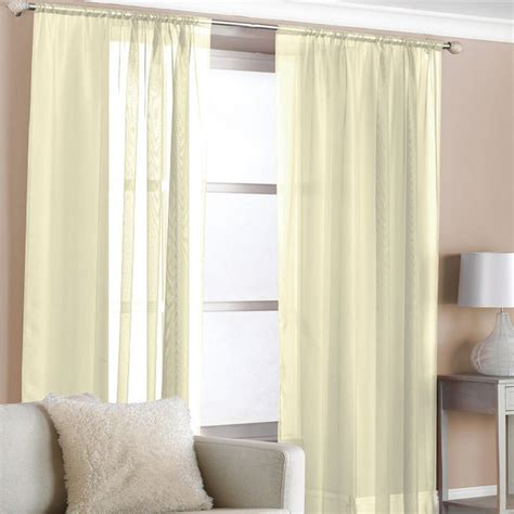 coloured voile curtains pair of cream coloured voile curtain panels with slot top
