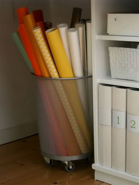 How To Wrap A For Storage by Creative Wrapping Paper Storage Ideas