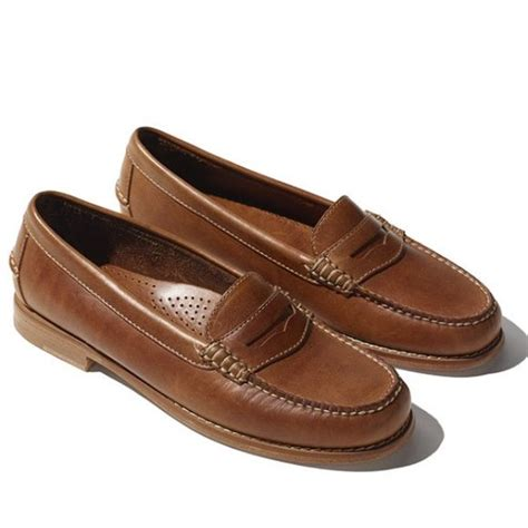 ll bean leather women s ll bean leather penny loafers caramel brown and