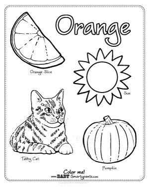 coloring pages color orange orange things coloring page pictures to pin on pinterest