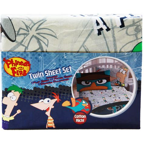 phineas and ferb bedding set phineas ferb bedding sheet set at toystop