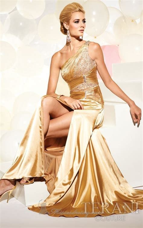 design dress glamour glamour gold color evening dress stylish design with whole