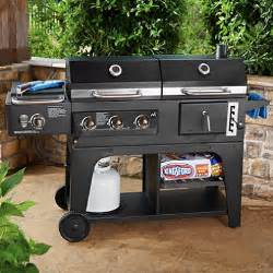 members patio grill member s gas and charcoal hybrid grill sam s club