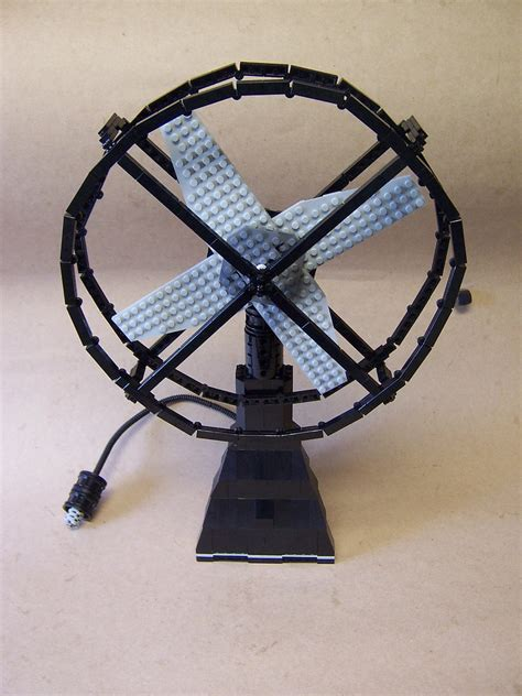 fans of lego skool lego fan yes the blades spin and so does