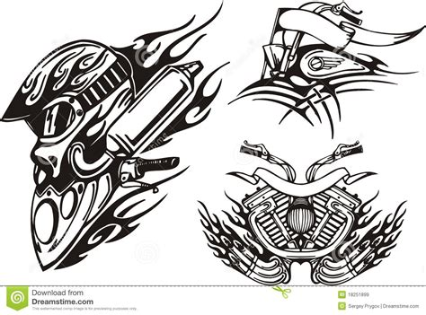 tribal motorcycle tattoo 11 tribal vector graphics bike images free motorcycle