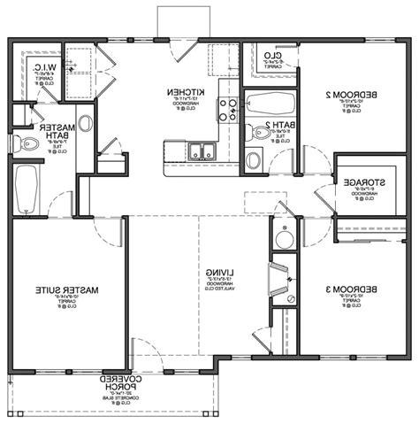 simple three bedroom house architectural designs simple house floor plan design escortsea