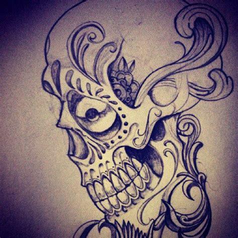 tattoo love draw tattoo skull scroll tattooskull drawing love draw