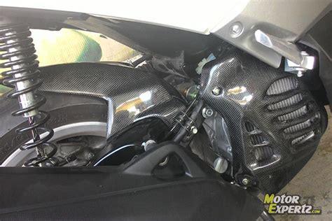 Cover Knalpottameng Knalpot Karbon Yamaha Nmax aksesoris modifikasi yamaha nmax dari jdm project murah
