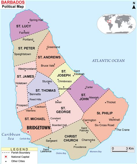 political map of barbados maps of barbados bizbilla