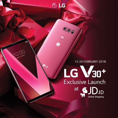 Lg V30 Plus Raspberry hari ini lg v30 plus raspberry hadir eksklusif di jd