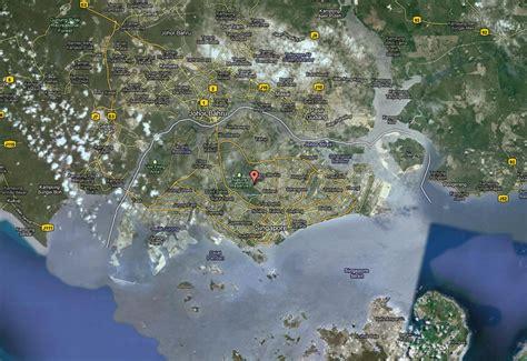 singapore map  singapore satellite image
