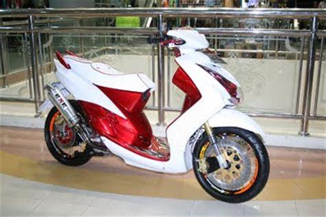 Modif Mio Soul Merah by Modifikasi Mio Soul Merah Putih Modifikasi Motor