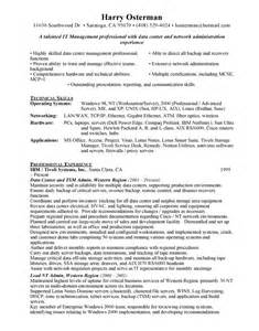 data center manager free resumes