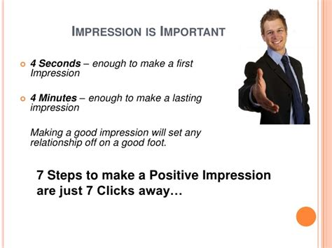 7 Ways To Make A Impression At An by Impression Is The Best Impression