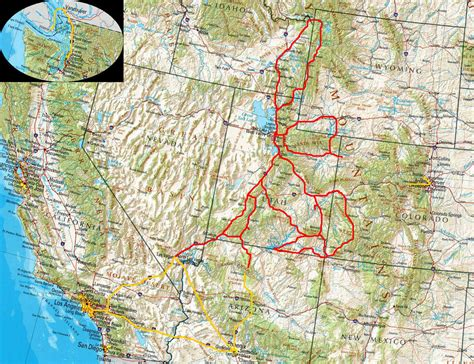 usa west map map us west