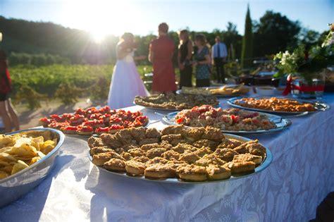 Wedding Food by Delightful Wedding Farmhouse Near Volterra