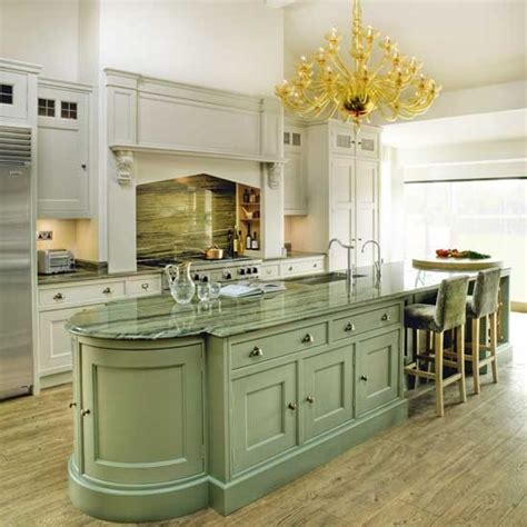 grand kitchen with green island traditional kitchens